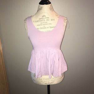 Urban Outfitters Lavender Peplum Tank Top Size S
